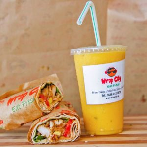 WRAP AND A SMALL SMOOTHIE COMBO