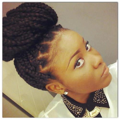 Box Braids With Bangs Box braids. style 1