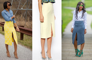 Who Wore It Best The Asos Pencil Skirt With High Front Split- On kamdora.com- Kamdora