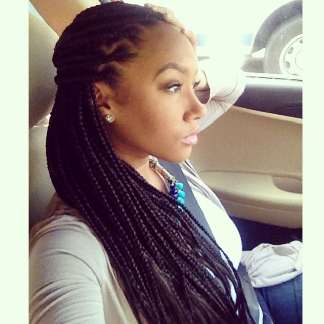 How to wear box braids up
