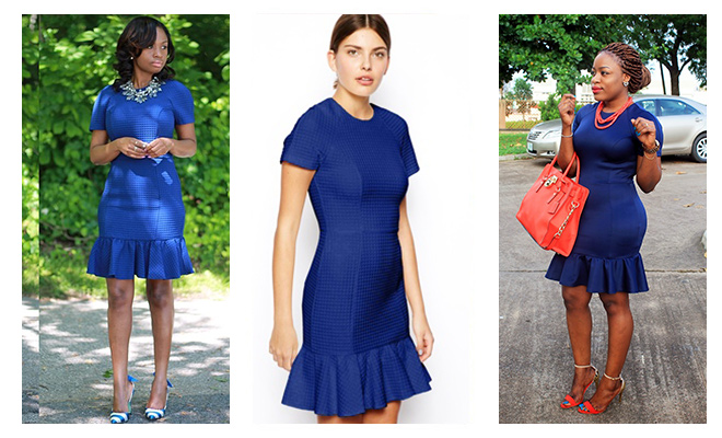 The Blue Pencil Dress