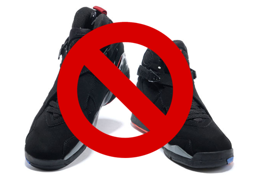 Image result for no sneakers
