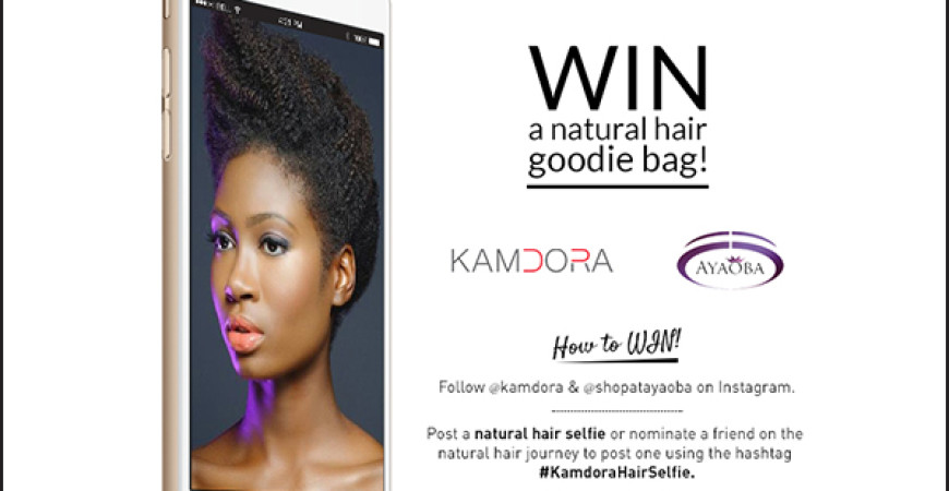 Kamdora Selfie Giveaway Natural Hair Special