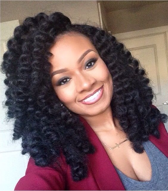 Crochet Braids Underneath : ... Crochet Braids and Senegalese Twist Hairstyle under Straight Crochet