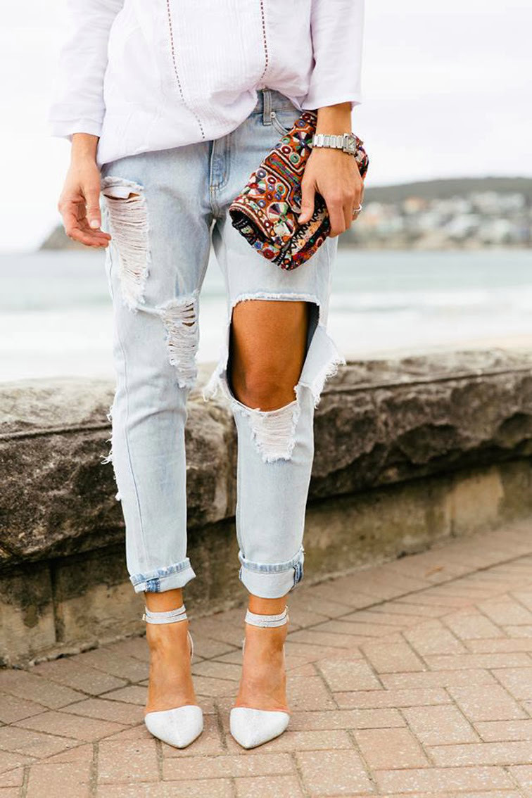 How To Make Ripped Jeans At Home - Jeans Am