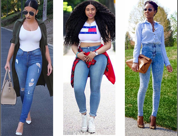 How To Rock Your High-waisted Jeans | Kamdora