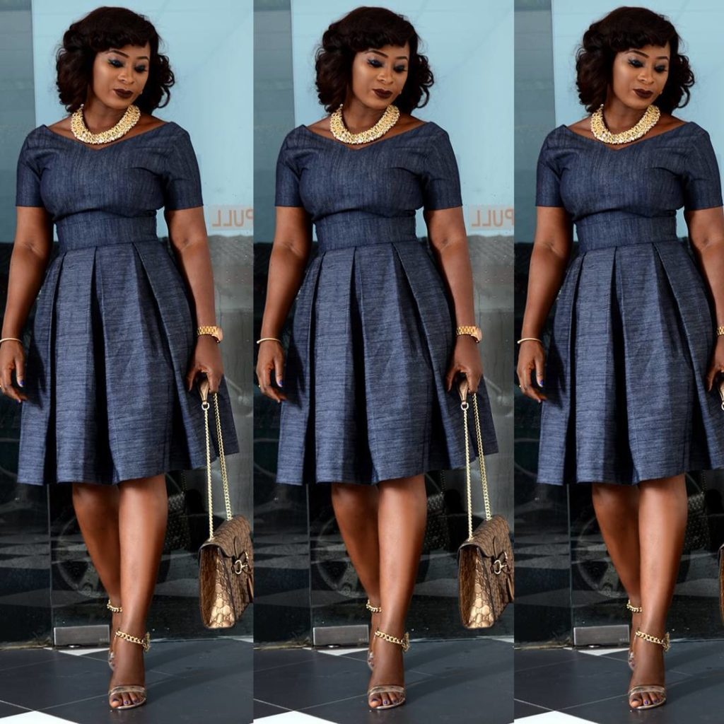 Look 1: Jumoke Raji looks chic and style in her pleated dress