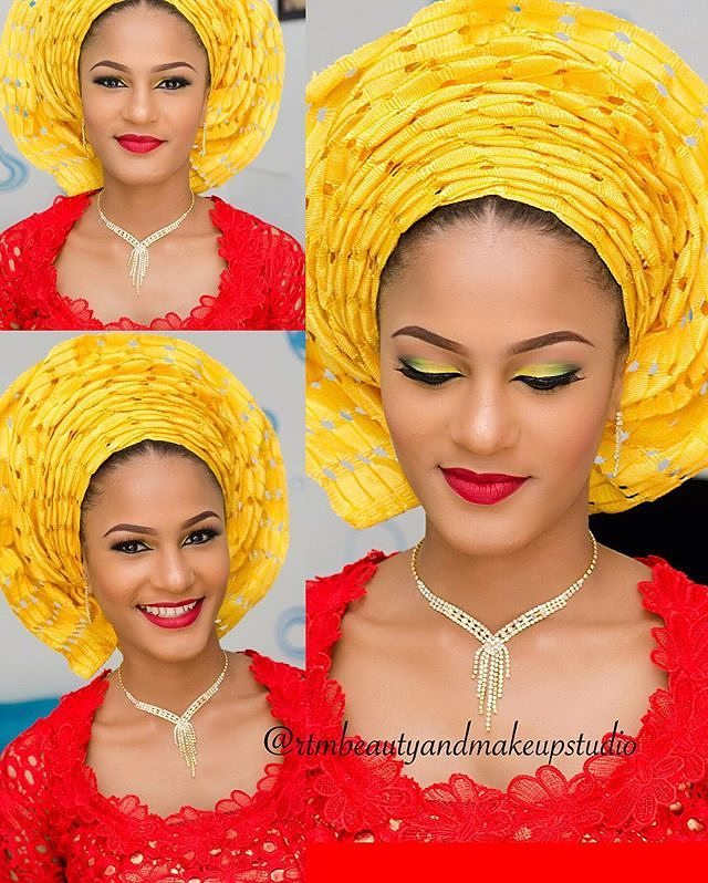 Look 3: Makeup and Gele by @rtmbeautyandmakeupstudio