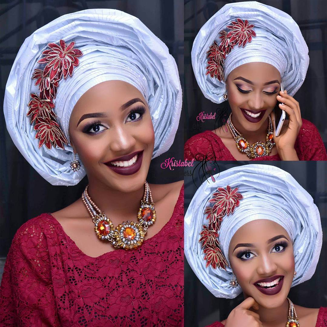 Credit via instagram @omeananenu. Makeup and gele by @kristabelmakeovers