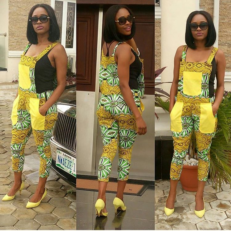Image result for ankara dungarees dress