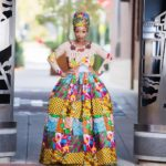 "LOTD: Chic Ama Is a Life Size ""African doll"" in her Ankara Ball Dress"