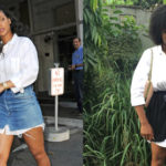 Who Wore it better? Rihanna VS Blogger Desola Mako in the Skirt over Shirt Dress Style
