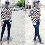 LOTD: Angel Obasi Is Too Cool In Her Check Bomber Jacket