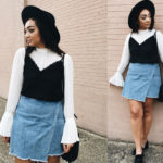 LOTD: Cropped Slip-On And A Mini Denim Skirt With Jasmine Salahuddin