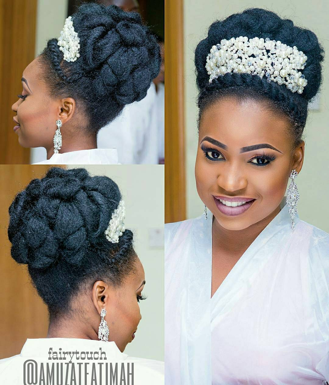 6 Classy Natural Hairstyles For Nigerian Brides! | Kamdora