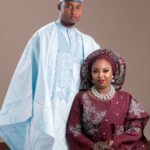 Bride Nafisah In Bejeweled Burgundy Aso Oke By Modani Aso Oke!