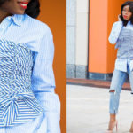 Look Of The Day: Fashion Blogger Stella-Uzo In Stripe On Stripe