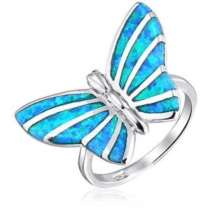 FLY AWAY BLUE BUTTERFLY RING