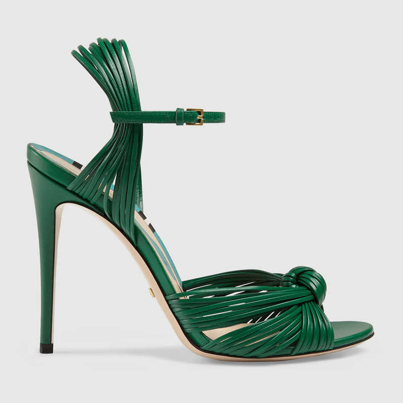 Gucci leather knot sandals 1