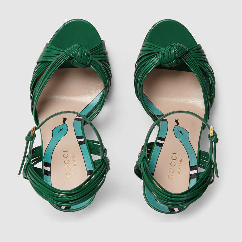 Gucci leather knot sandals 3