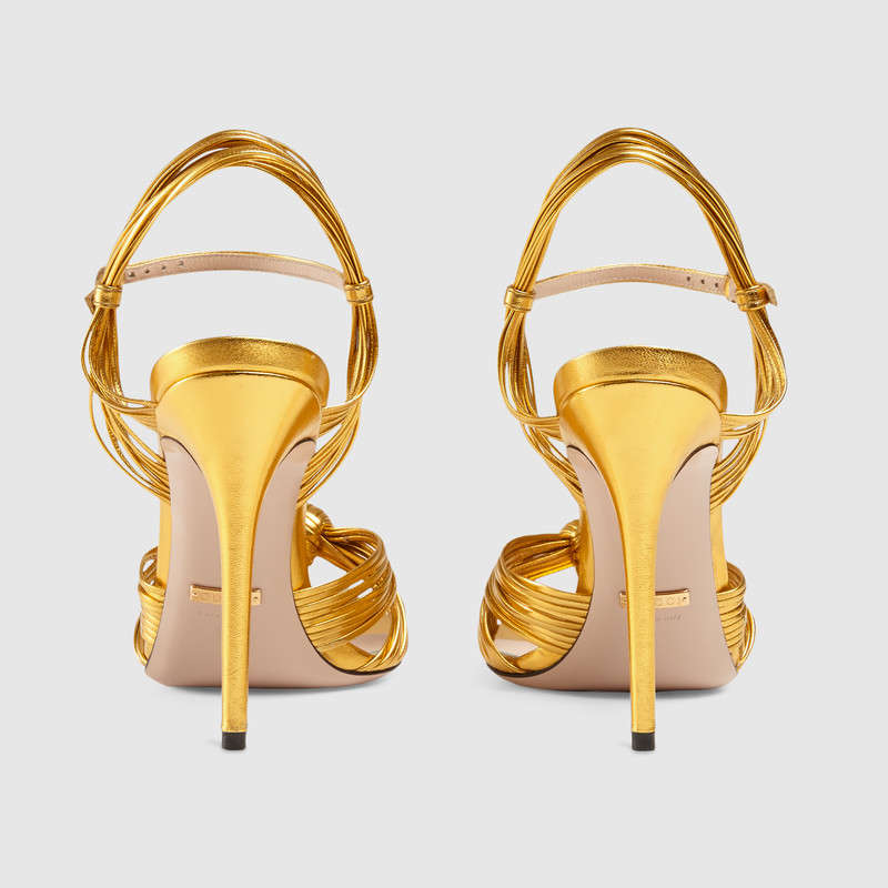 Gucci leather knot sandals 6