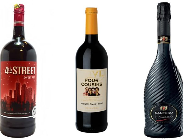 Header of Sweetest Red Wines featuring four cousins, 4th street and santero