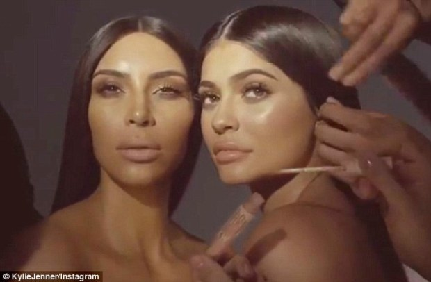Kim and Kylie Makeup Collaboration 1