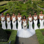 Okay Ladies Now Let's Get In Formation!!! These Bridal Trains Are Picture Perfect