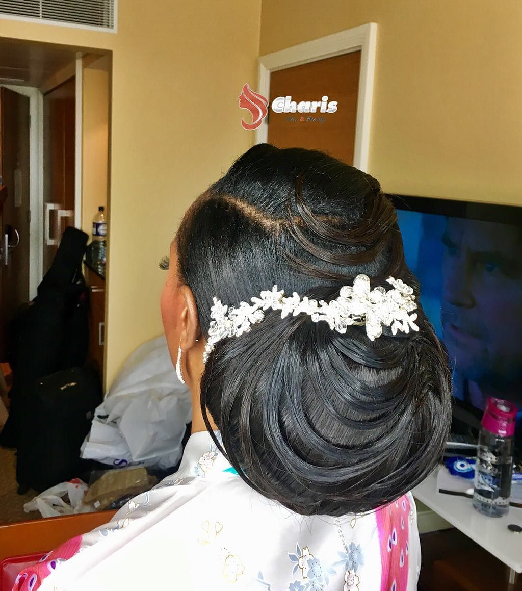 bridal updo charis hair