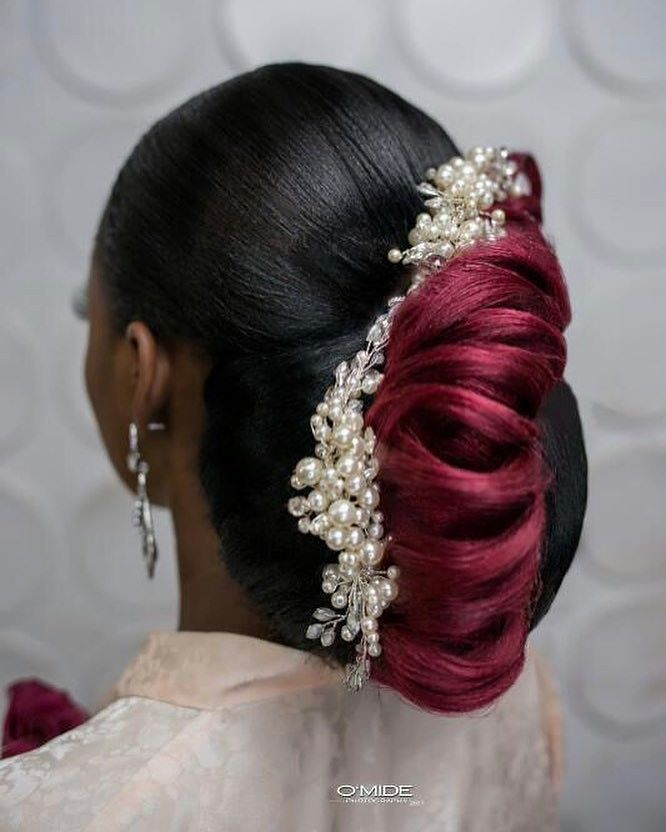 bridal updo hair by sleame