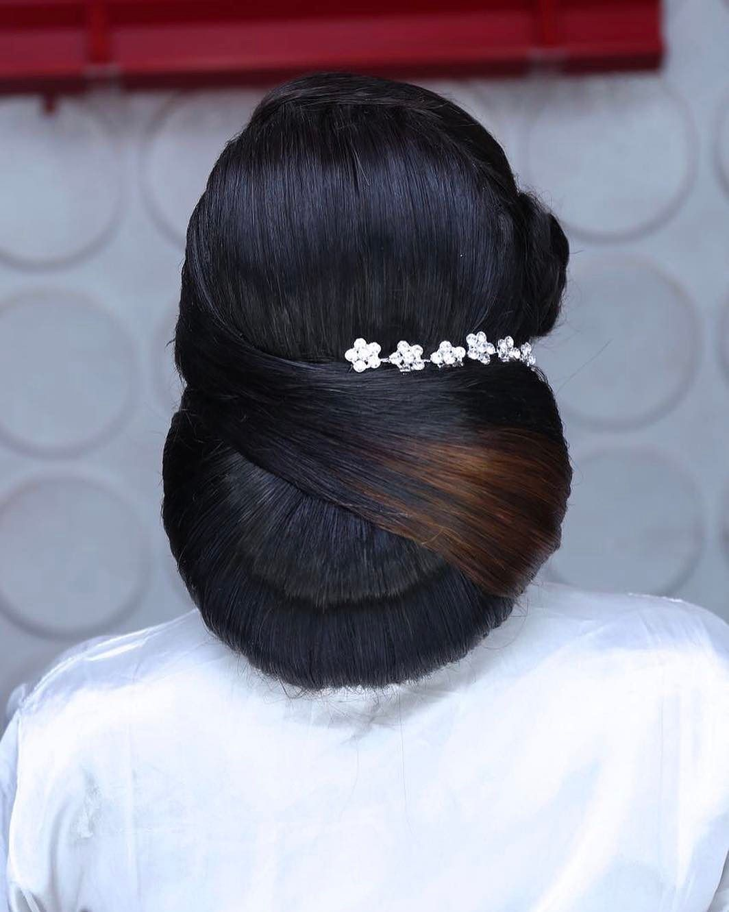 bridal updo hair by sleame3