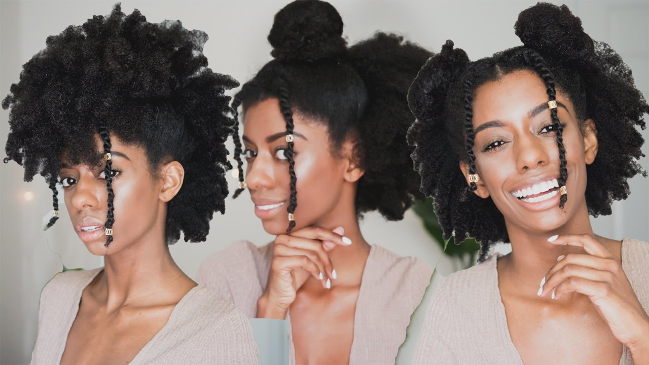 Watch This - 3 Easy Hairstyles For 4C Natural Hair!