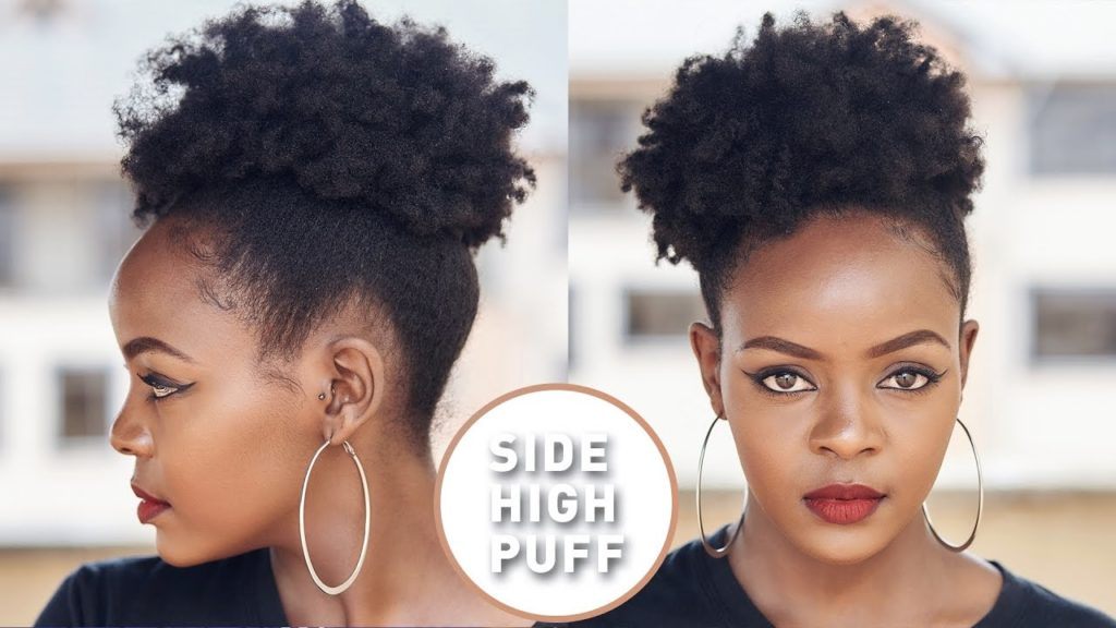 High Side Puff Natural Hair