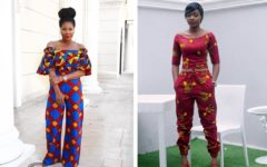 Stylish Two Piece header for ankara style