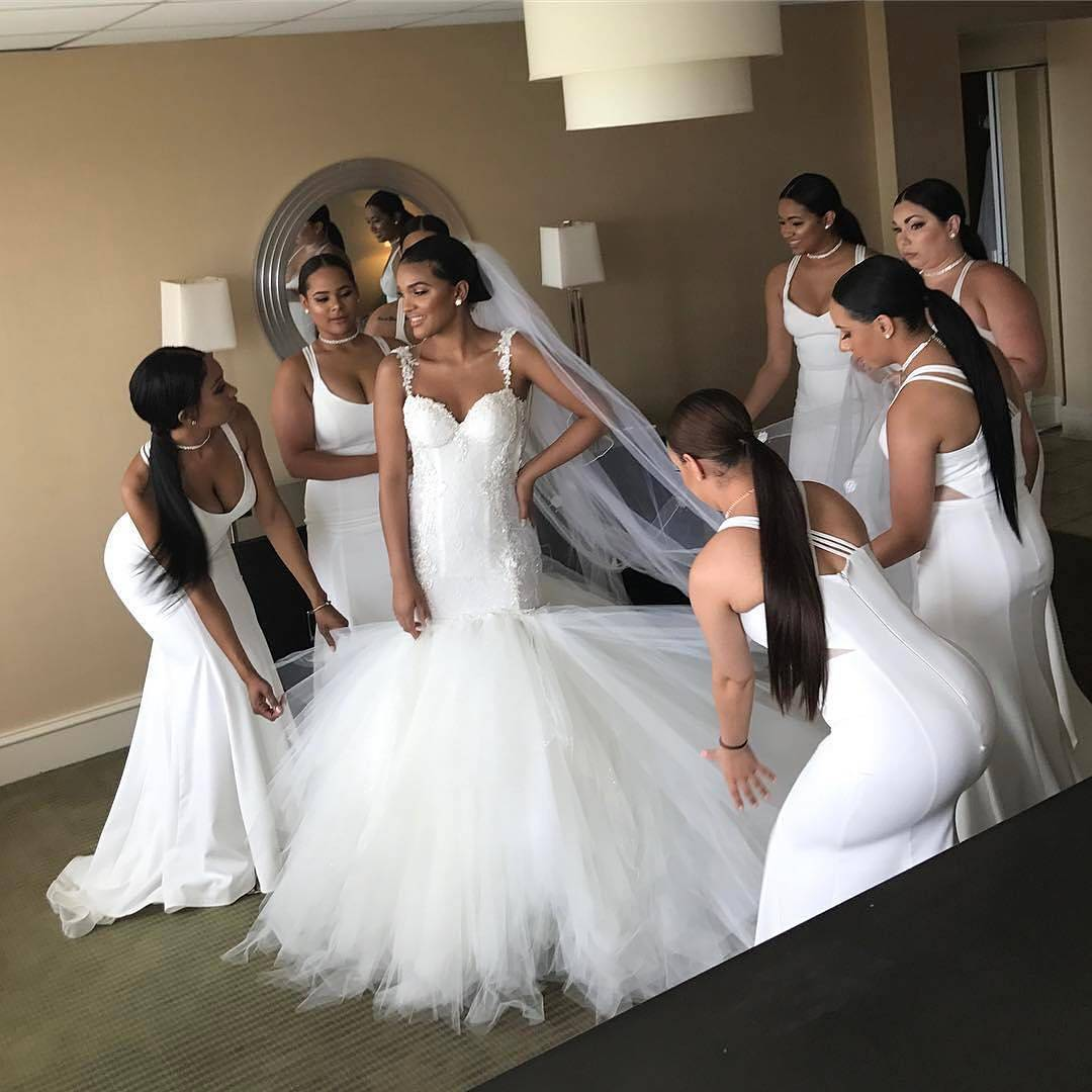 The sexy slinky silhouette is trending right now for bridesmaid bridesmaids ombrellifo Image collections