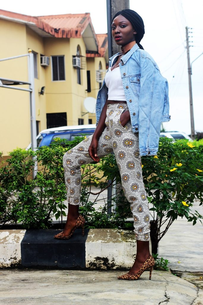 Style from the average nigerian girl TANG denim and ankara wumi tuase (1)