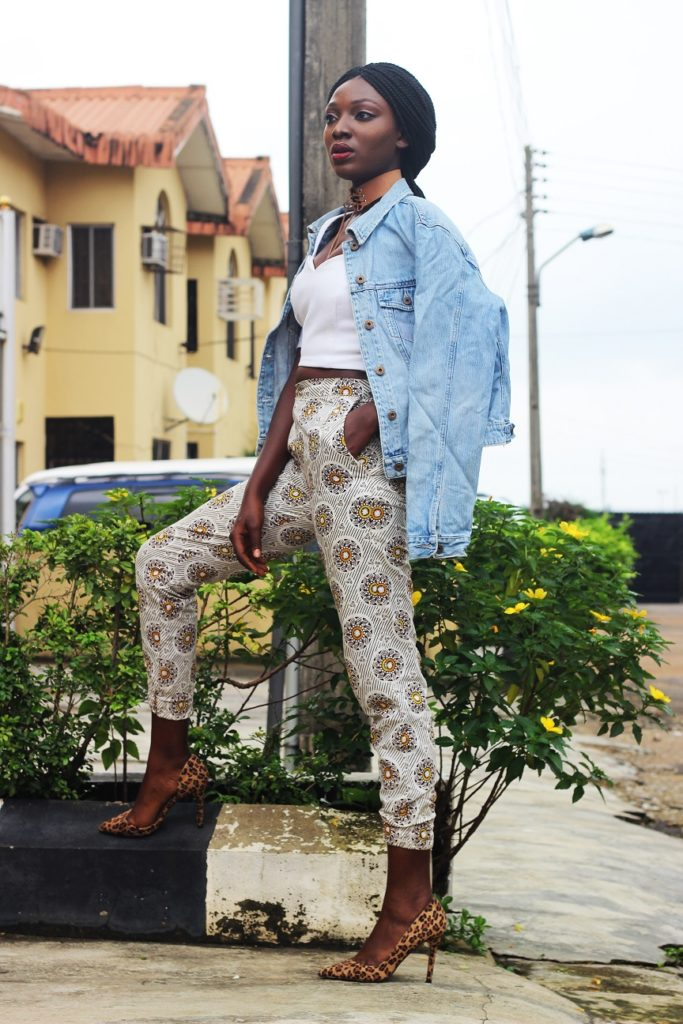 Style from the average nigerian girl TANG denim and ankara wumi tuase (2)