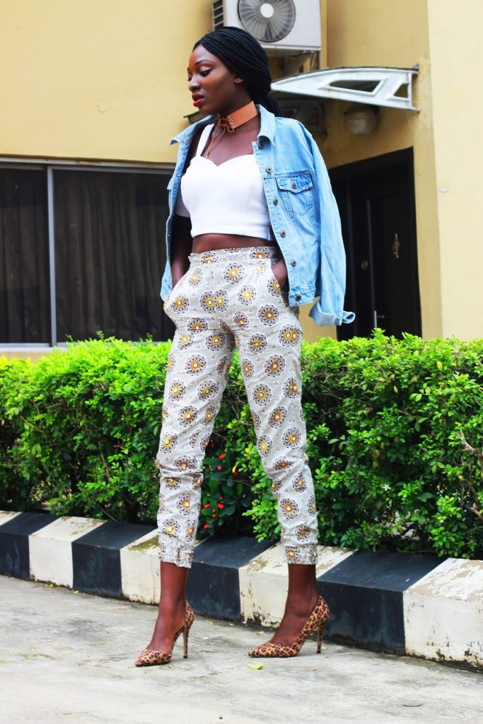 Style from the average nigerian girl TANG denim and ankara wumi tuase (3)