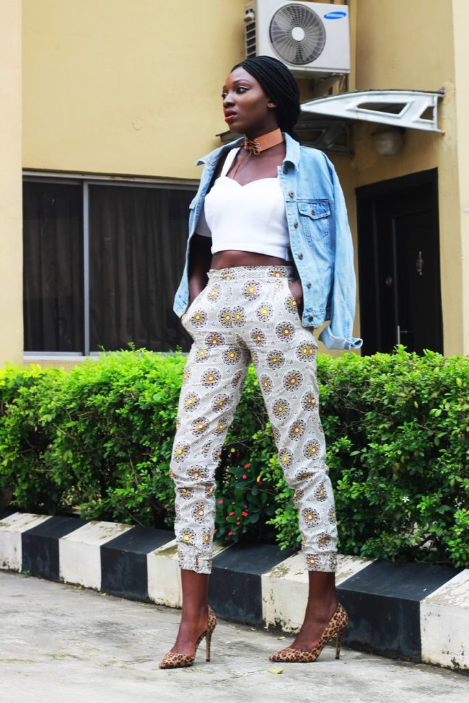 Style from the average nigerian girl TANG denim and ankara wumi tuase (4)