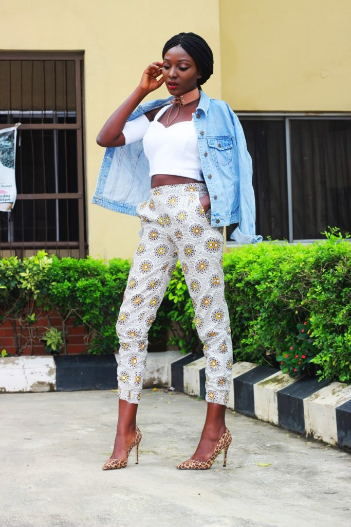 Style from the average nigerian girl TANG denim and ankara wumi tuase (5)