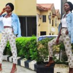 Style From The Average Nigerian Girl – Denim & Ankara