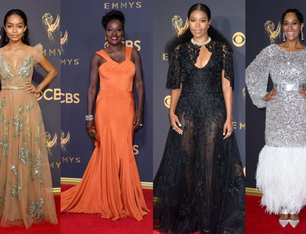 Emmys 2017 red carpet featuring voila davis, gabrielle union, yara Shahidi and Tracee ellis ross