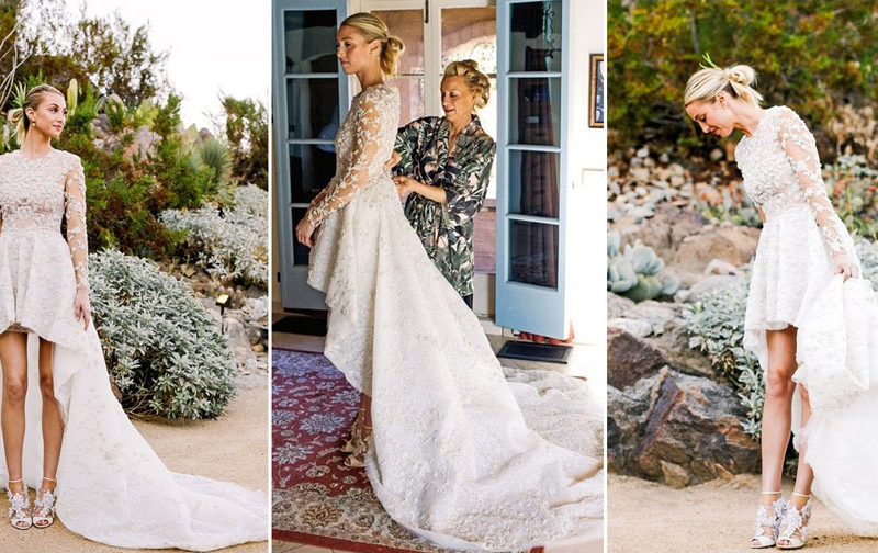 "If you're looking to show some leg while keeping a traditional train, you might want to opt for ""The Hills"" star's super-adorable high-low wedding gown. Port wore the dress, designed by Mohammed Ashi, in November 2015."